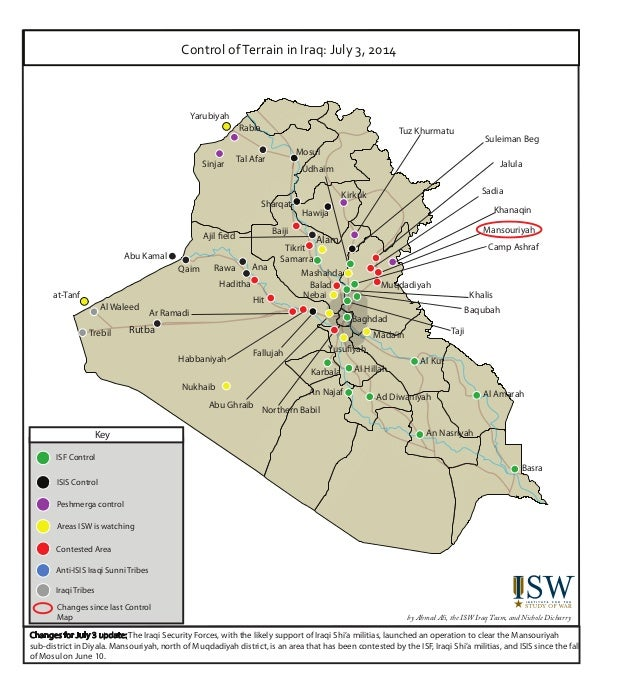 ISW Control of Terrain in Iraq Maps July 321 2014