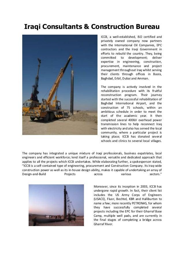Iraqi Consultants & Construction Bureau - ICCB