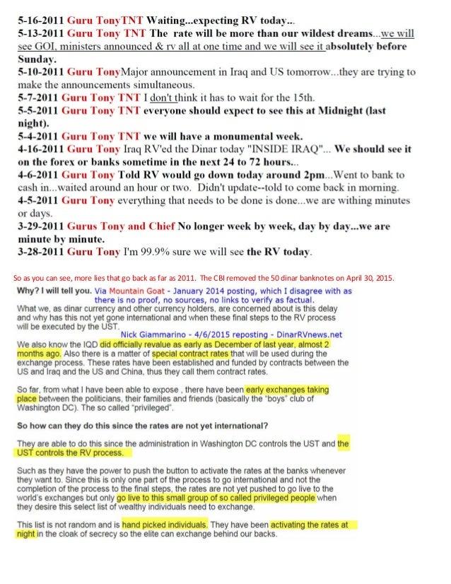 Iraqi Dinar Guru Scam Investigation - Case 1:15-cv-02032-LMM - FBI Warning Slide 3
