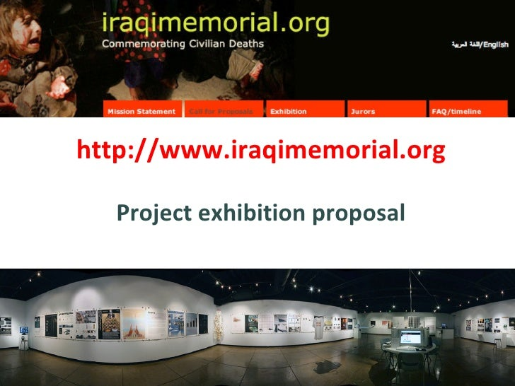http://www.iraqimemorial.org Project exhibition proposal