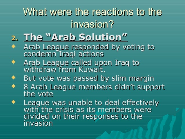 Image result for Two-thirds of the 21 members of the Arab League condemned Iraq's act of aggression