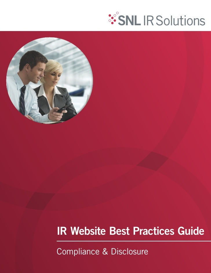 IR Website Best Practices GuideCompliance & Disclosure