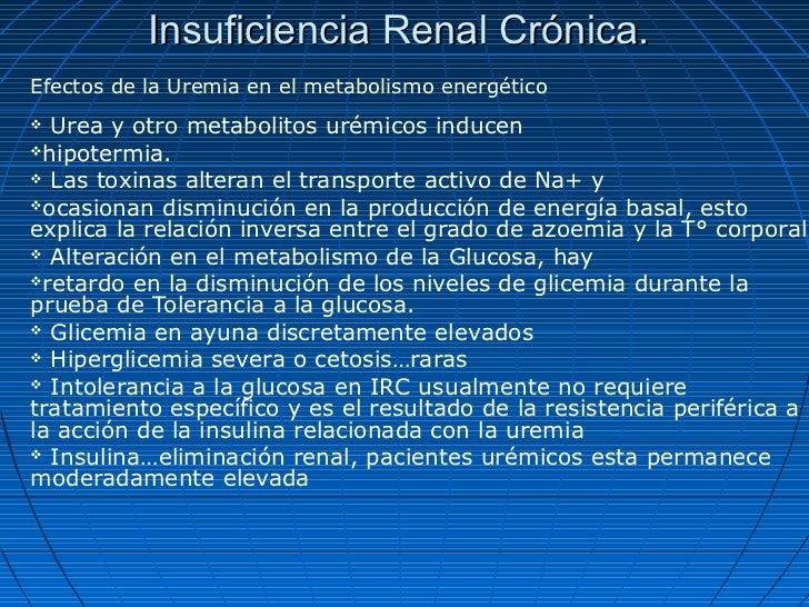 Insuficiencia Renal Crónica.Efectos de la Uremia en el metabolismo energético Urea y otro metabolitos urémicos inducenhi...