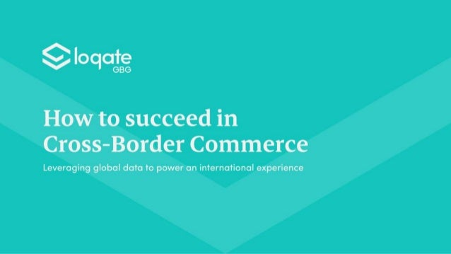 How to succeed in cross-border commerce
