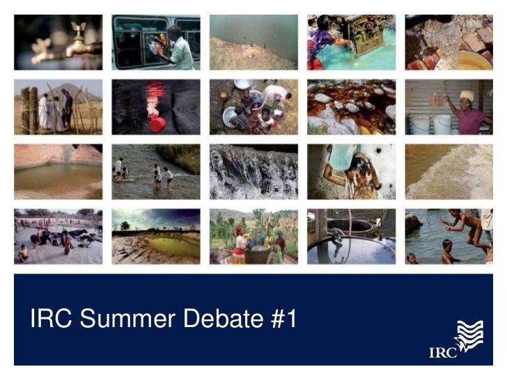 IRC Summer Debate #1