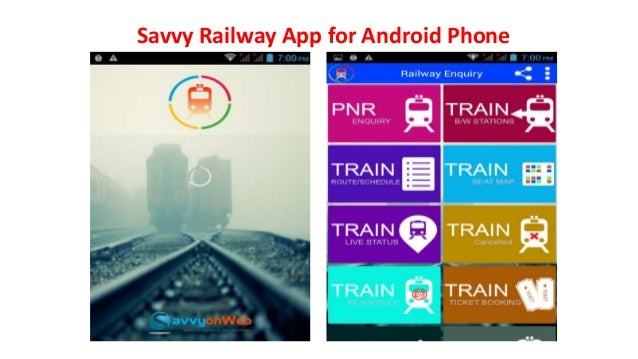 Savvy Railway App for Android Phone