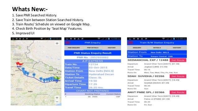 Indian Railways IRCTC PNR