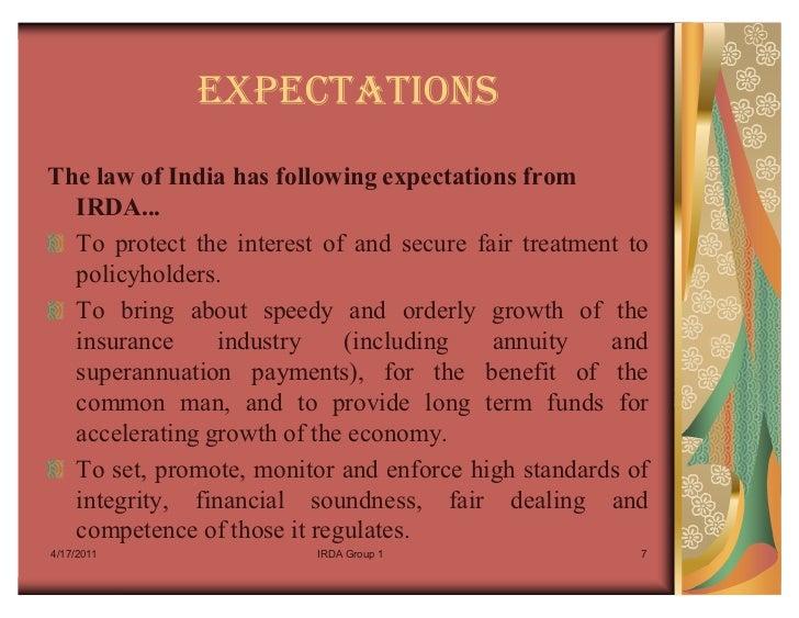 Insurance Definition By Irda