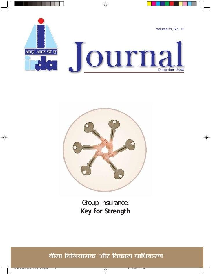 Volume VI, No. 12                                         December 2008               Group Insurance:           Key for S...