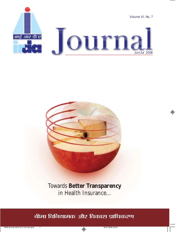 Volume VI, No. 7                                              Jun/Jul 2008          Towards Better Transparency         in...