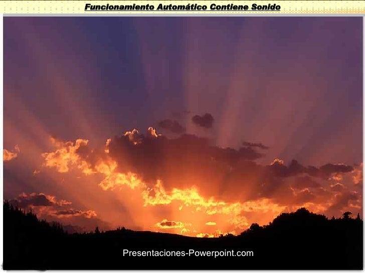 Funcionamiento Automático Contiene Sonido Presentaciones-Powerpoint.com