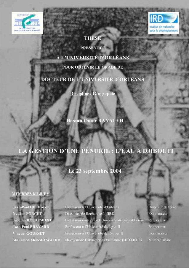 THÈSE PRESENTÉE A L'UNIVERSITÉ D'ORLÉANS POUR OBTENIR LE GRADE DE DOCTEUR DE L'UNIVERSITÉ D'ORLÉANS Discipline : Géographi...