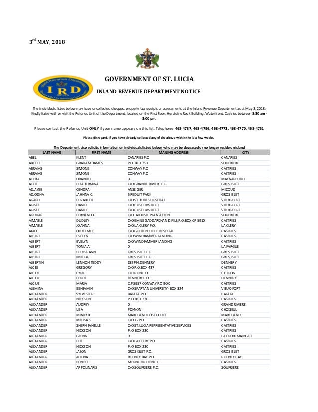 10dea8344932bf Inland Revenue Department Notice 2018