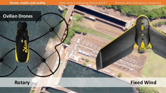 14/43 Rotary Fixed Wind Civilian Drones Drone, myths and reality How does a mapping drone work? Drones and emergency respo...