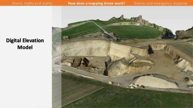 26/43 Digital Elevation Model Drone, myths and reality How does a mapping drone work? Drones and emergency response