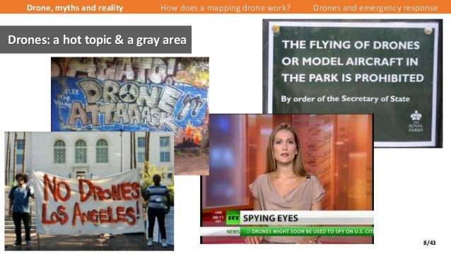 8/43 Drone, myths and reality How does a mapping drone work? Drones and emergency response Drones: a hot topic & a gray ar...