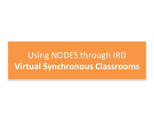 Using NODES through IRD National OER Repository