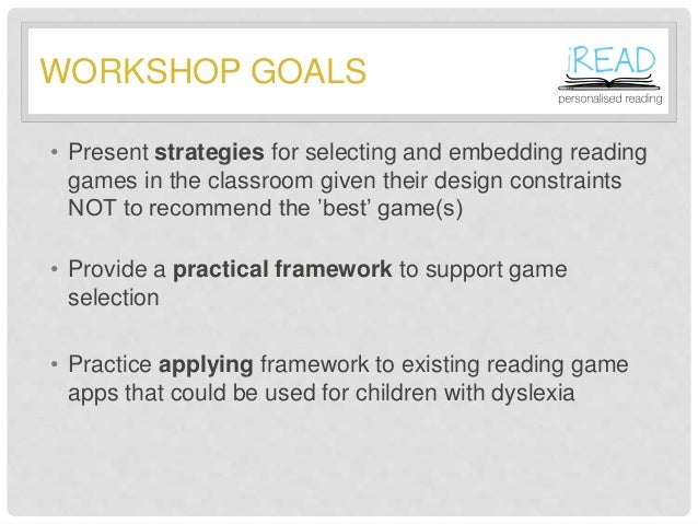 Tablet-based reading games for dyslexia in the primary classroom