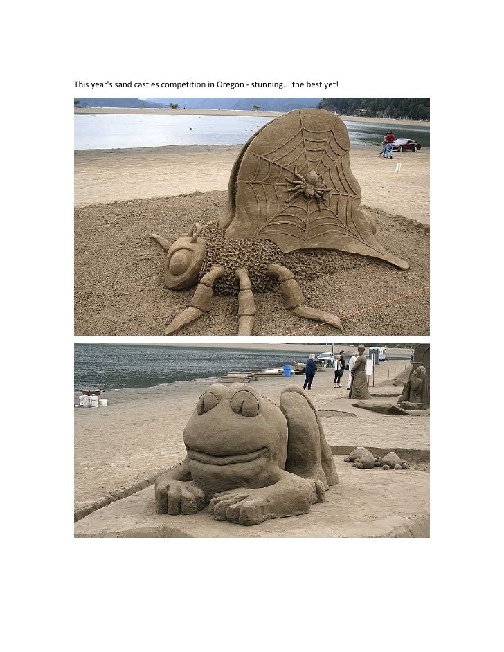This year's sand castles competition in Oregon - stunning... the best yet!
