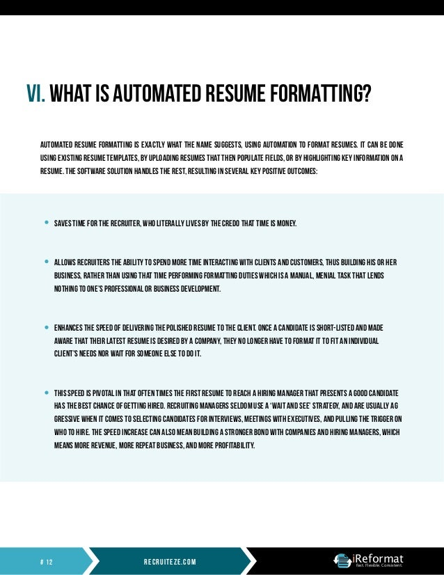 automated resume formatting whitepaper