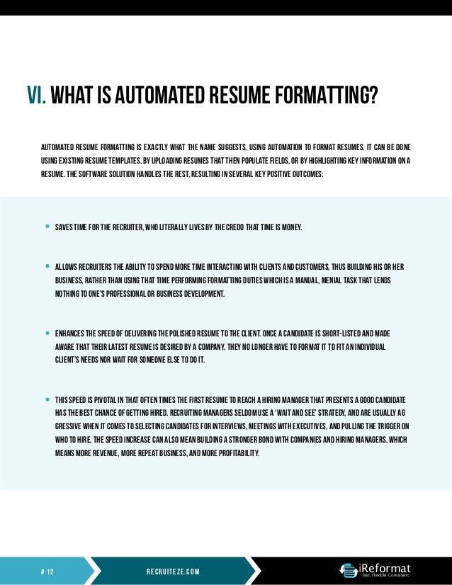 Automated Resume Formatting Whitepaper