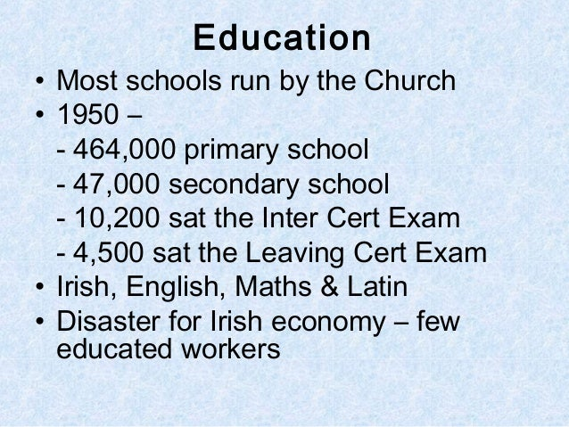 Ireland in the 1950s revision