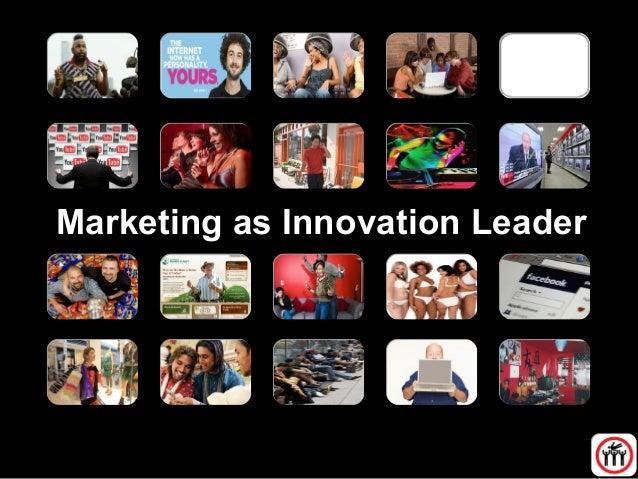 Marketing as Innovation Leader