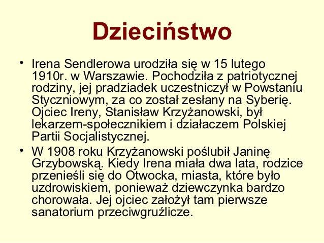 Biografia Irena Sendlerowa