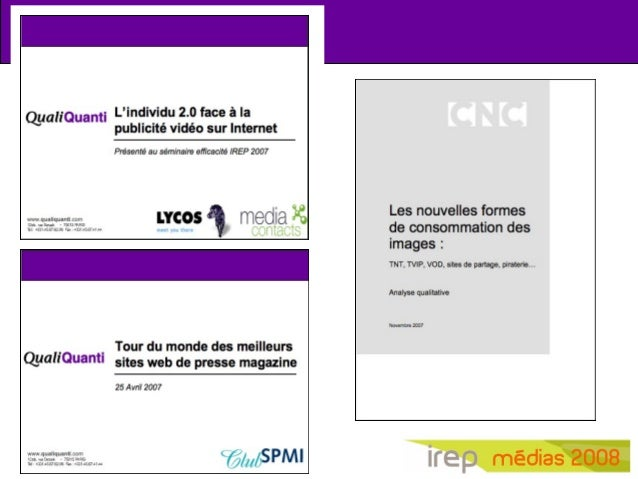 Irep 2008   nouveaux usages médias, nouveau formats pub Slide 2
