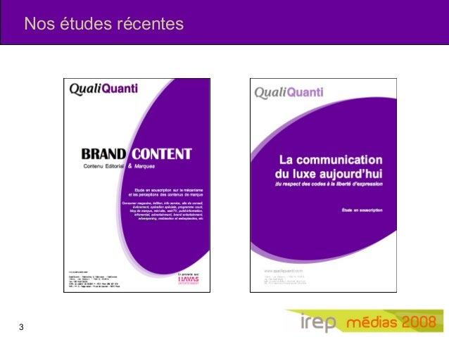 Irep 2008   nouveaux usages médias, nouveau formats pub Slide 3
