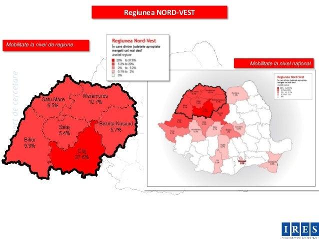 Regiunea NORD-VESTMobilitate la nivel de regiune.                                                       Mobilitate la nive...