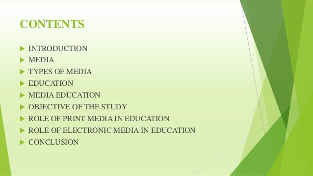 Role Of Media In Education