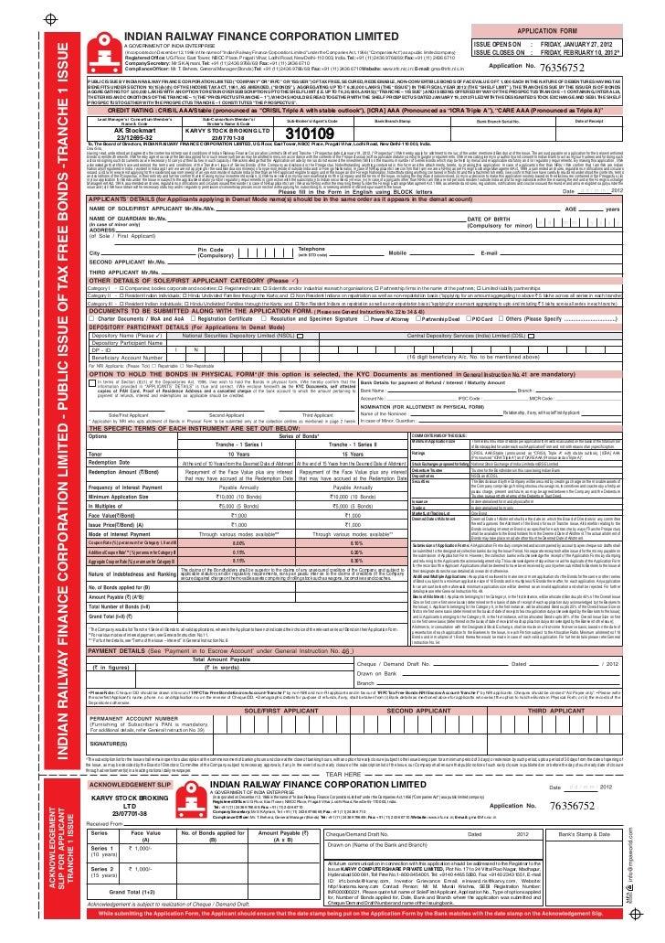 INDIAN RAILWAY FINANCE CORPORATION LIMITEDINDIAN RAILWAY FINANCE CORPORATION LIMITED - PUBLIC ISSUE OF TAX FREE BONDS -TRA...