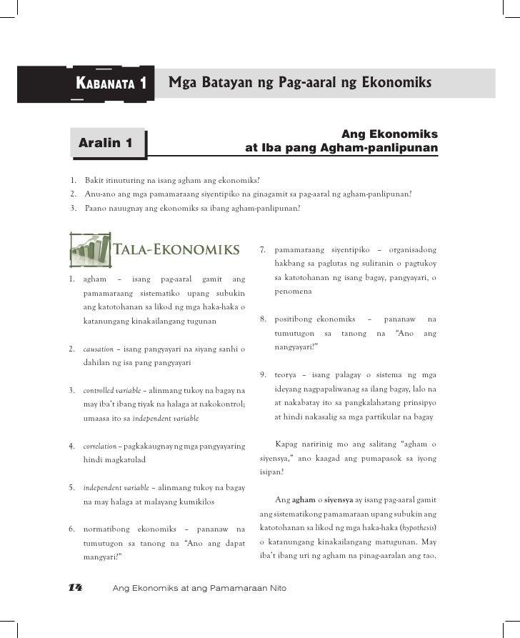 KABANATA 1                  Mga Batayan ng Pag-aaral ng Ekonomiks                                                         ...