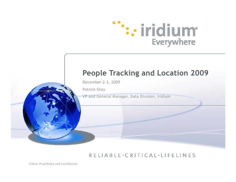 People Tracking and Location 2009                                            December 2-3, 2009                           ...