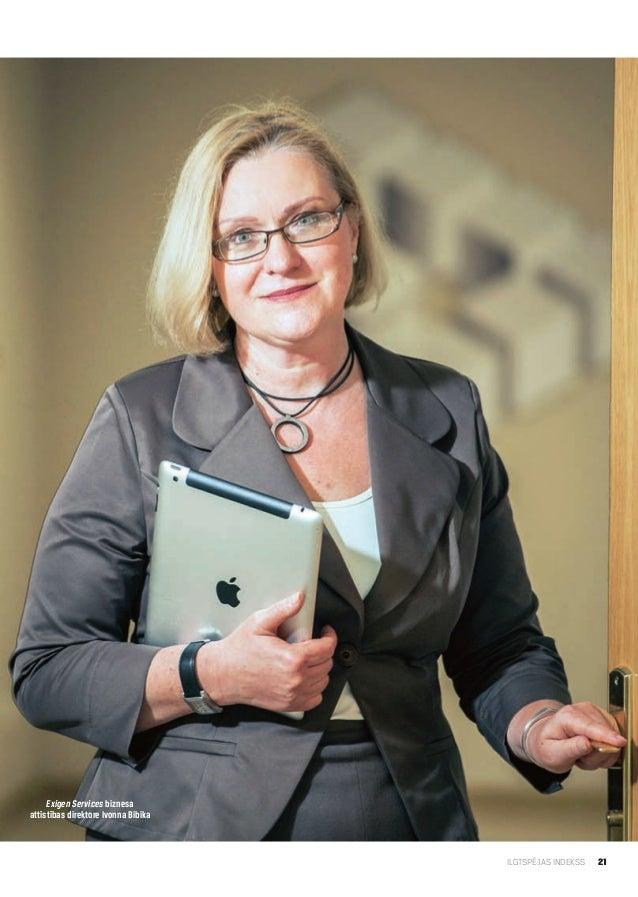 21ILGTSPĒJAS INDEKSSExigen Services biznesaattīstības direktore Ivonna Bibika