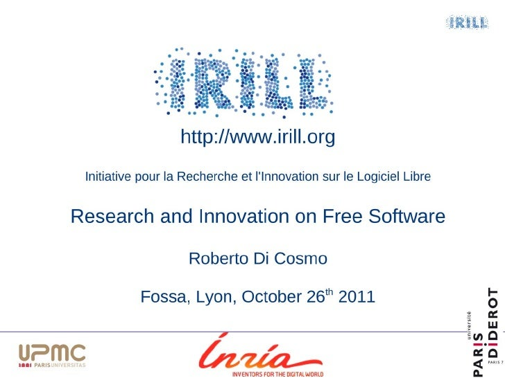 Irill  open source education - challenges - fossa2011