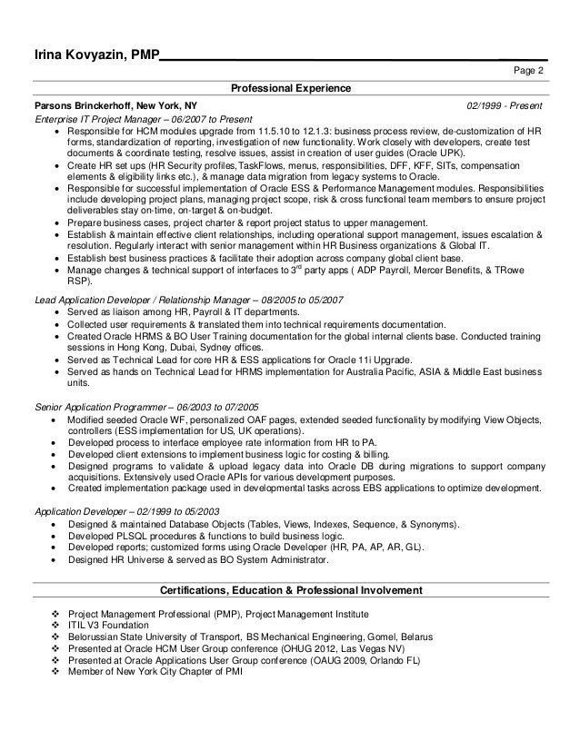 awesome oracle apps project manager resume ideas simple resume