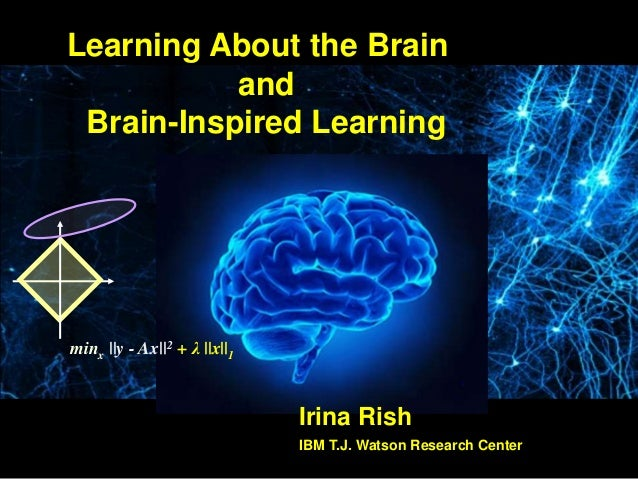 minx ||y - Ax||2 + λ ||x||1 Irina Rish IBM T.J. Watson Research Center Learning About the Brain and Brain-Inspired Learning