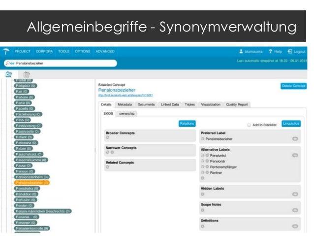 Kontakt  Mag. Andreas Blumauer  CEO, Semantic Web Company +43 1 4021235 a.blumauer@semantic-web.at  www.semantic-web.at ww...