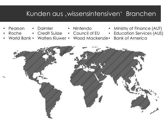 "Kunden aus 'wissensintensiven"" Branchen • Pearson • Daimler • Nintendo • Ministry of Finance (AUT) • Roche • Credit Suisse..."