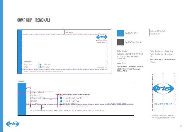 iris brand guidelines 2014 Slide 23