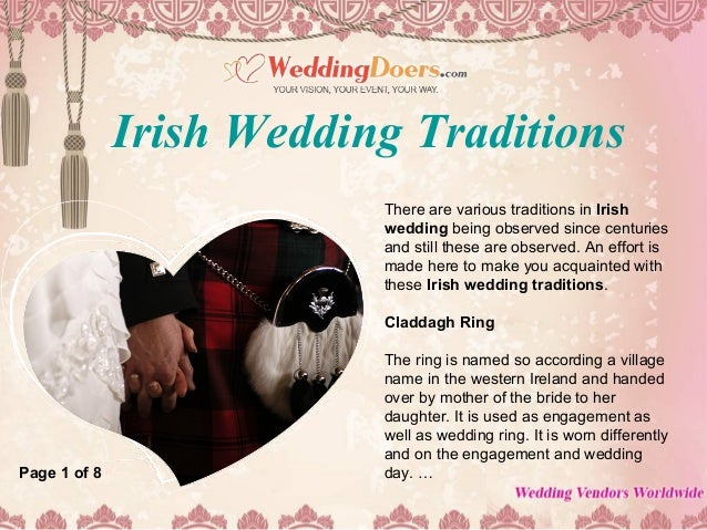Irish Wedding Traditions.Irish Wedding Traditions