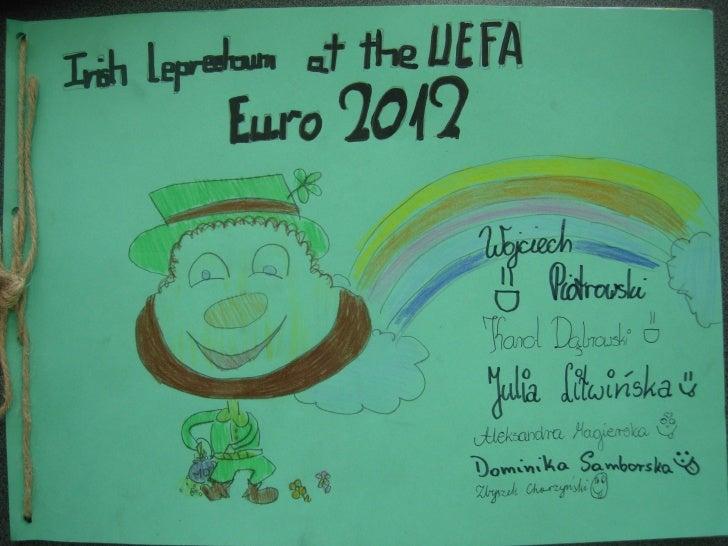 Irish leprechaun at the UEFA Euro 2012