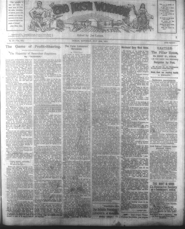 Irish Worker 26 July 1913