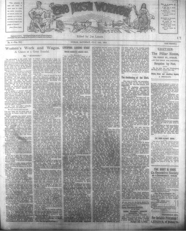 Irish Worker 19 July 1913