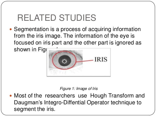 iris segmentation 2010-1-1 abstract: the use of biometric systems has been increasingly encouraged by both government and private entities in order to replace or improve traditional security systems iris recognition biometric systems have proved to be efficient at personal recognition with highest recognition accuracy this.
