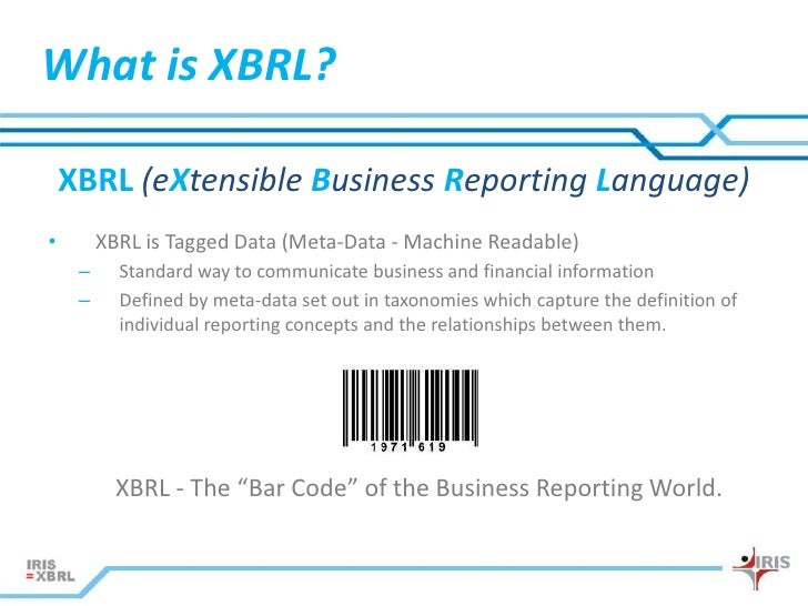 define extensible business reporting language
