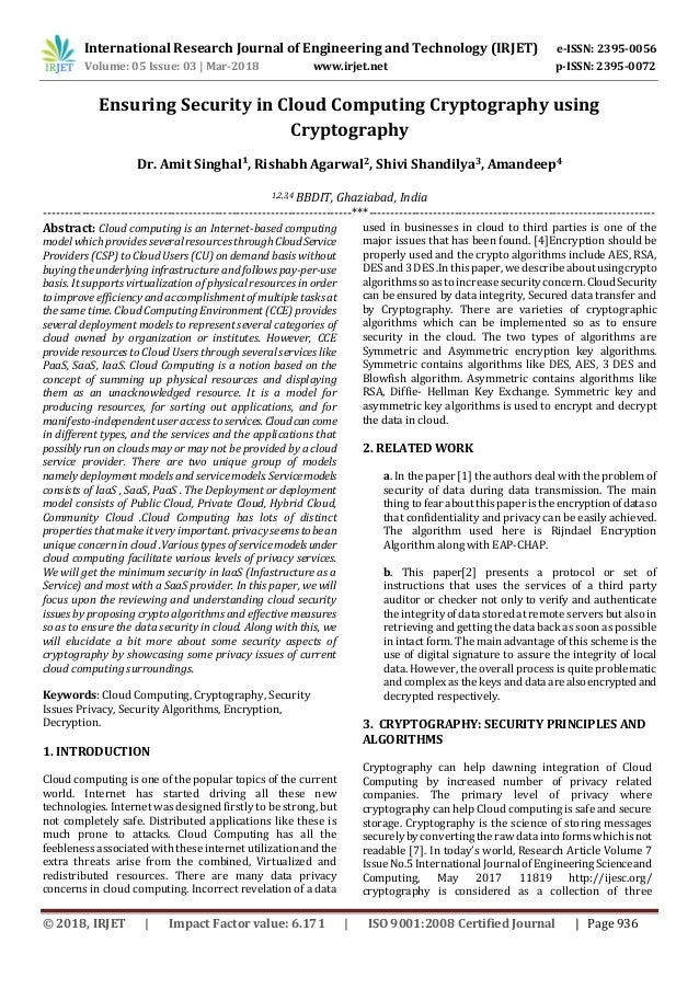 research papers on security and cryptography
