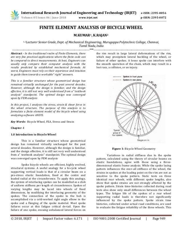 IRJET-Finite Element Analysis of Bicycle Wheel